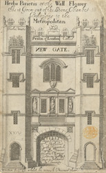 Gateway of Newgate Prison, London